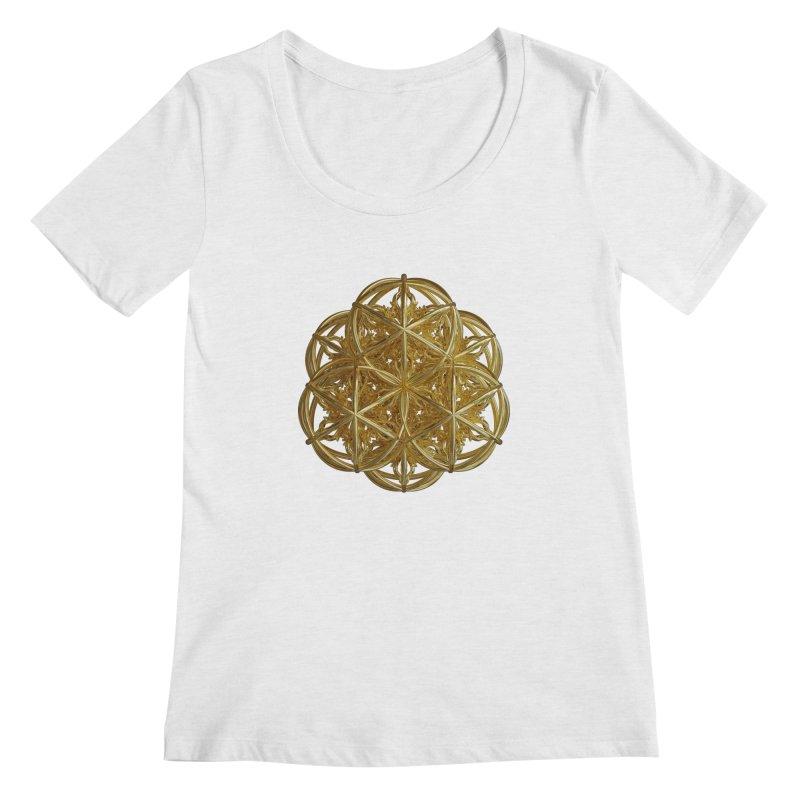 56 Dorje Object Gold v2 Women's Scoop Neck by diamondheart's Artist Shop
