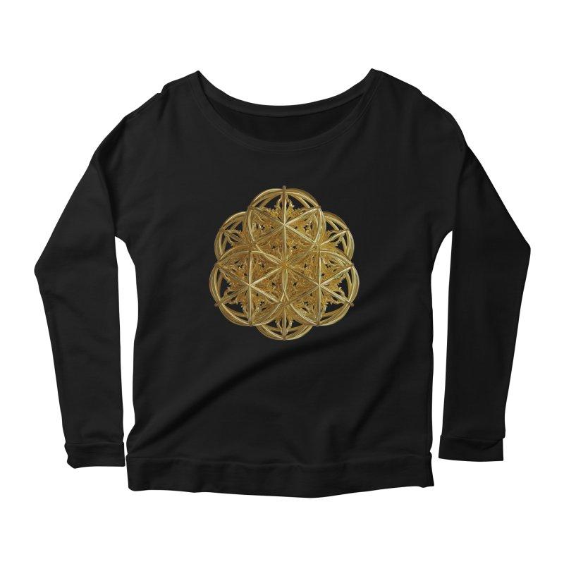 56 Dorje Object Gold v2 Women's Scoop Neck Longsleeve T-Shirt by diamondheart's Artist Shop