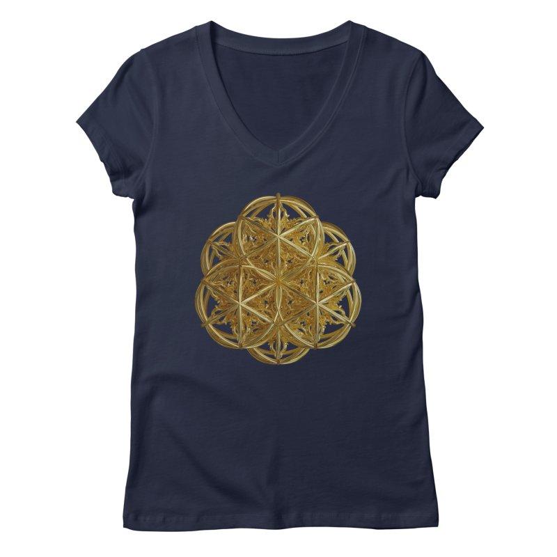 56 Dorje Object Gold v2 Women's Regular V-Neck by diamondheart's Artist Shop