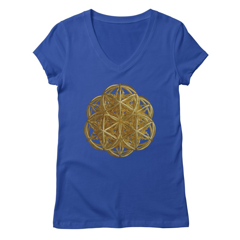 56 Dorje Object Gold v2 Women's Regular V-Neck by diamondheart's Artist Shop