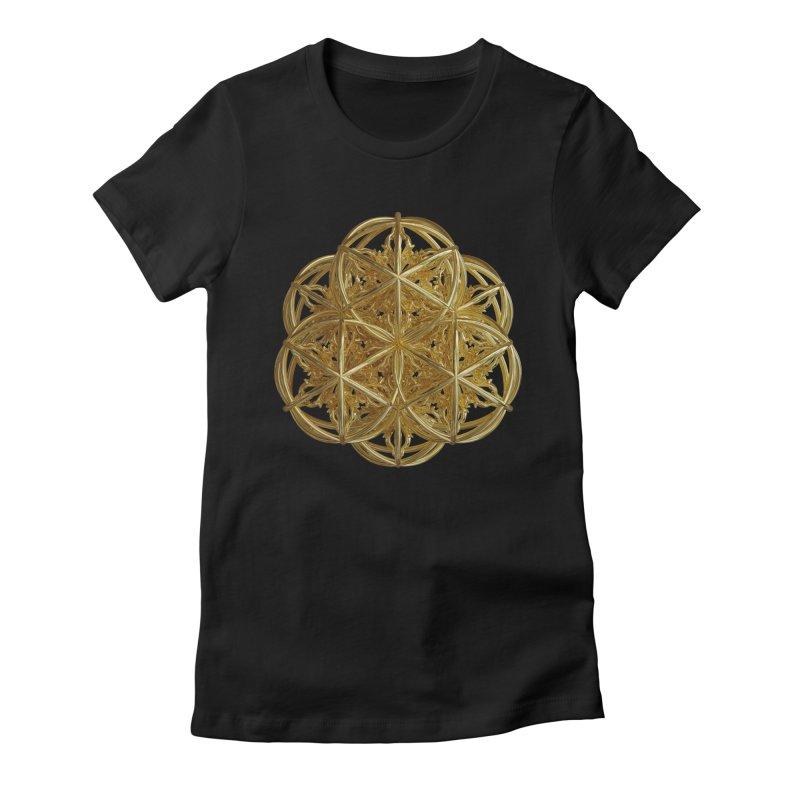 56 Dorje Object Gold v2 Women's Fitted T-Shirt by diamondheart's Artist Shop
