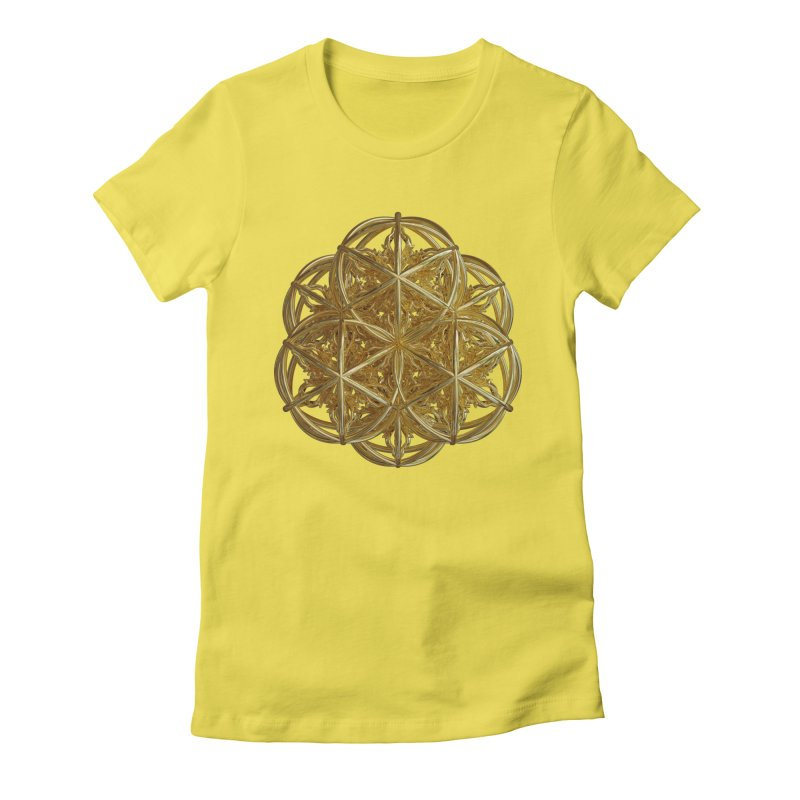 56 Dorje Object Gold v2 Women's Fitted T-Shirt by diamondheart's Artist Shop