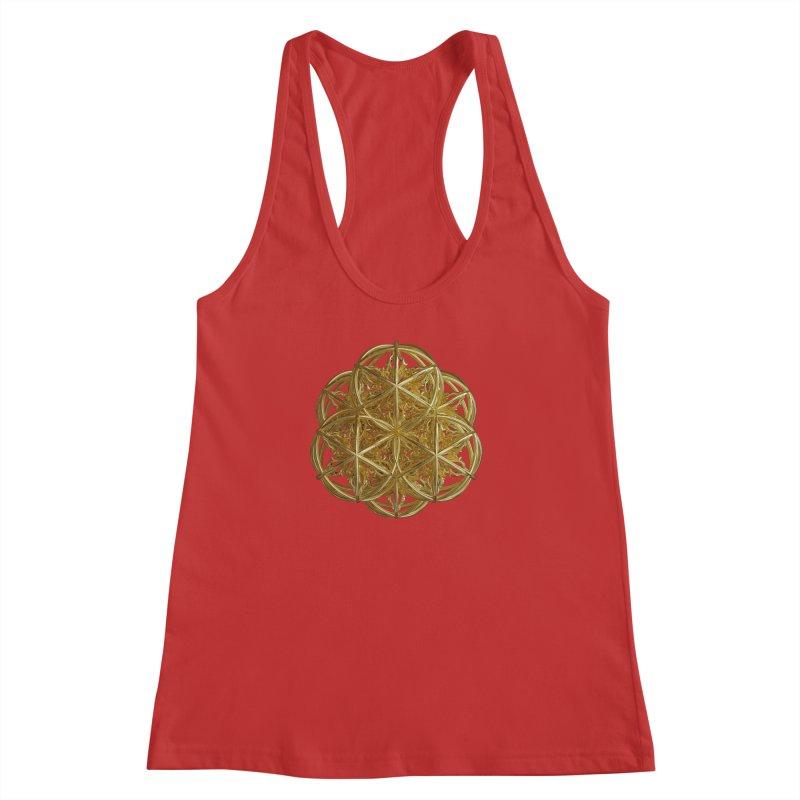 56 Dorje Object Gold v2 Women's Racerback Tank by diamondheart's Artist Shop