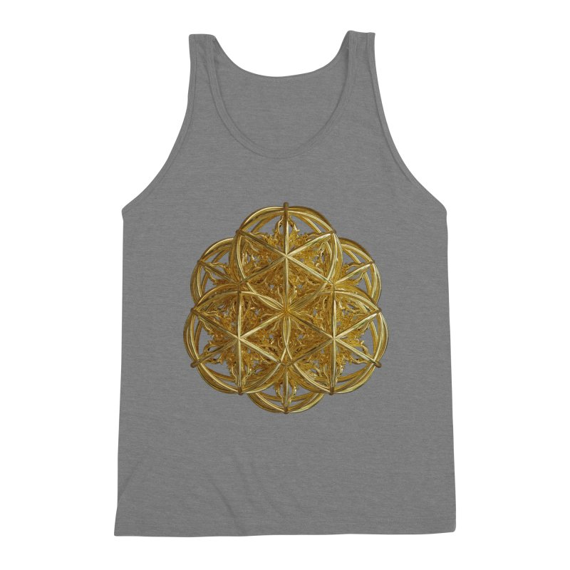 56 Dorje Object Gold v2 Men's Triblend Tank by diamondheart's Artist Shop