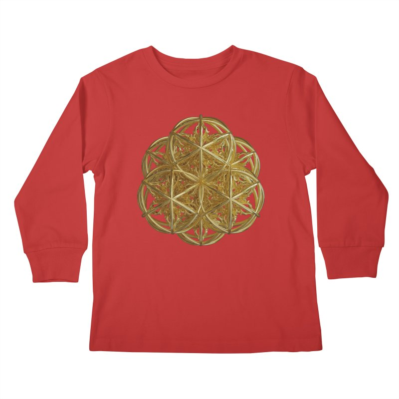 56 Dorje Object Gold v2 Kids Longsleeve T-Shirt by diamondheart's Artist Shop