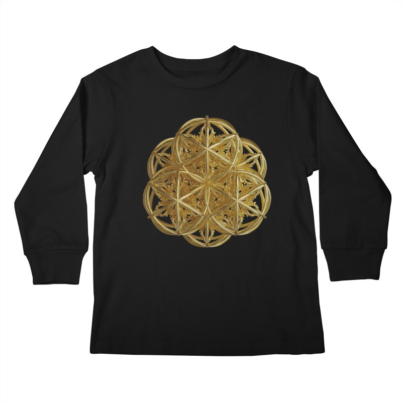 56 Dorje Object Gold v2 Kids Longsleeve T-Shirt by diamondheart's Artist Shop