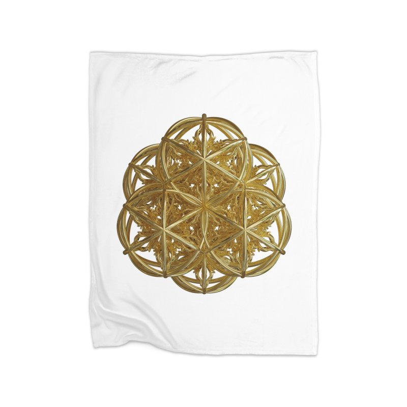 56 Dorje Object Gold v2 Home Fleece Blanket Blanket by diamondheart's Artist Shop