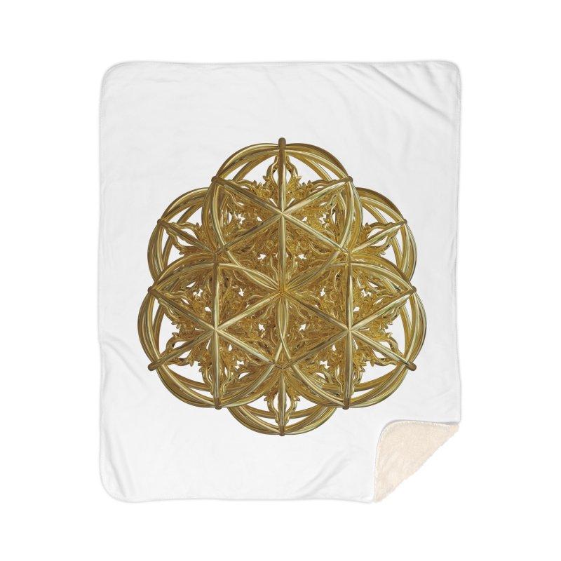 56 Dorje Object Gold v2 Home Sherpa Blanket Blanket by diamondheart's Artist Shop