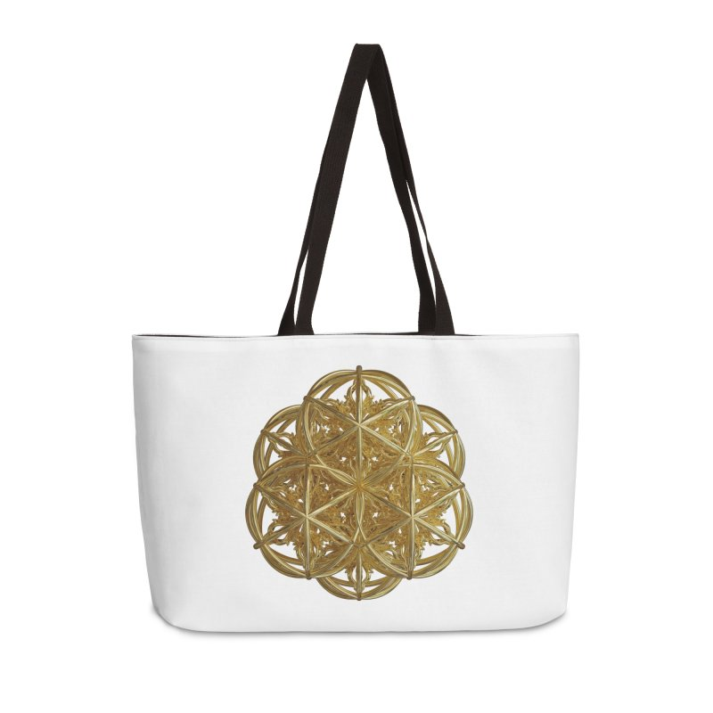 56 Dorje Object Gold v2 Accessories Weekender Bag Bag by diamondheart's Artist Shop