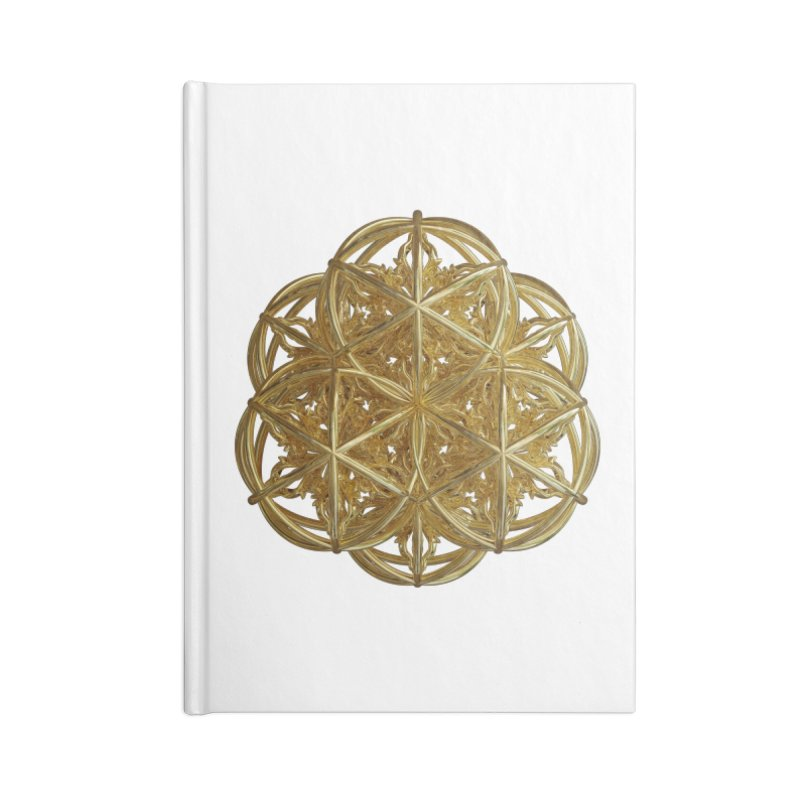 56 Dorje Object Gold v2 Accessories Blank Journal Notebook by diamondheart's Artist Shop