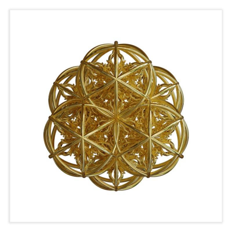 56 Dorje Object Gold v2 Home Fine Art Print by diamondheart's Artist Shop