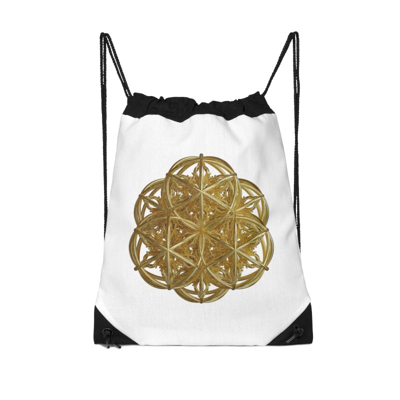 56 Dorje Object Gold v2 Accessories Drawstring Bag Bag by diamondheart's Artist Shop