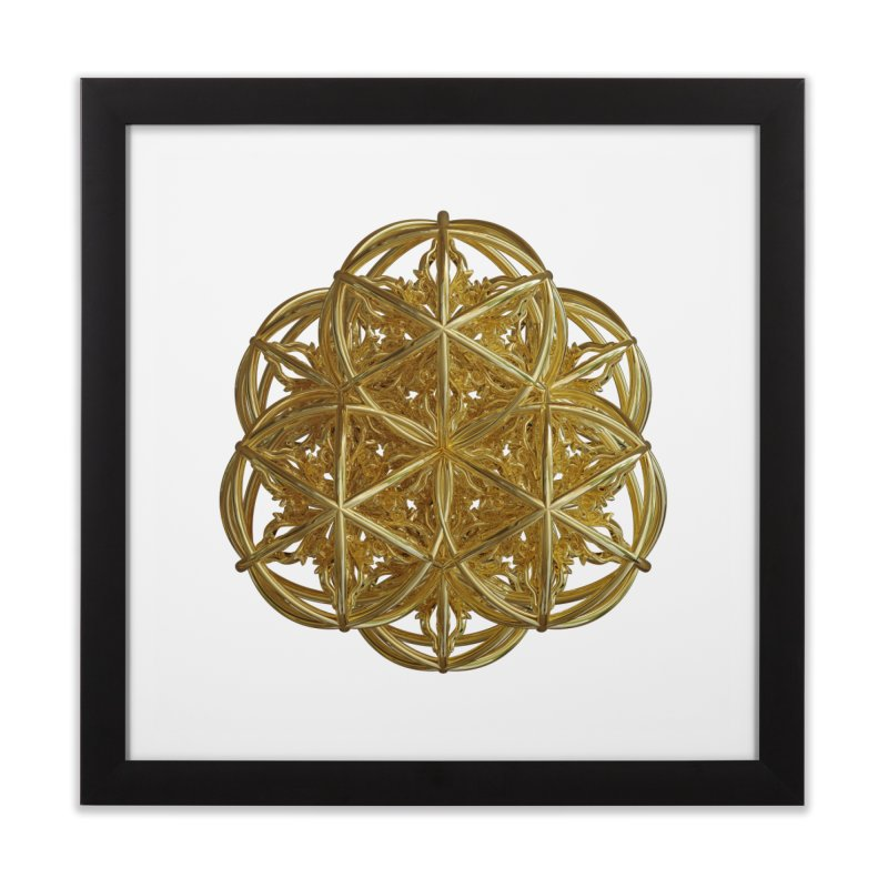 56 Dorje Object Gold v2 Home Framed Fine Art Print by diamondheart's Artist Shop