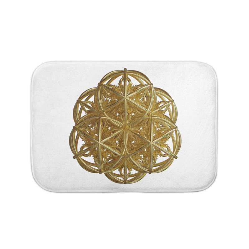 56 Dorje Object Gold v2 Home Bath Mat by diamondheart's Artist Shop