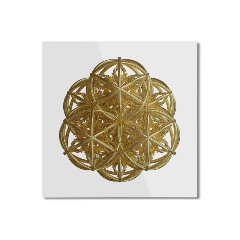 56 Dorje Object Gold v2 Home Mounted Aluminum Print by diamondheart's Artist Shop
