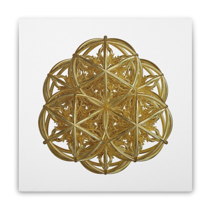 56 Dorje Object Gold v2 Home Stretched Canvas by diamondheart's Artist Shop