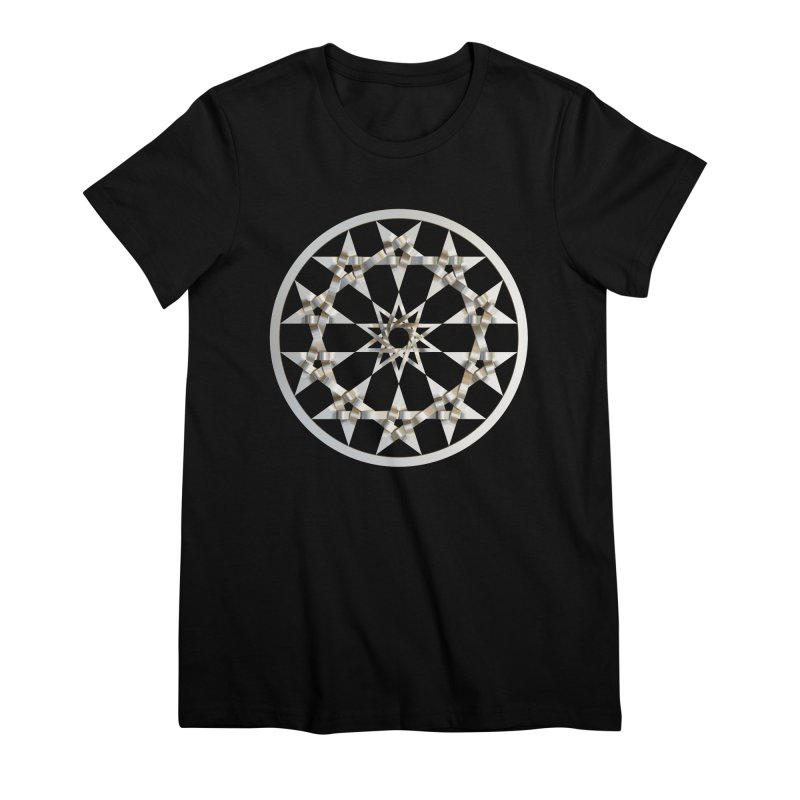 12 Woven 5 Pointed Stars Silver Women's Premium T-Shirt by diamondheart's Artist Shop