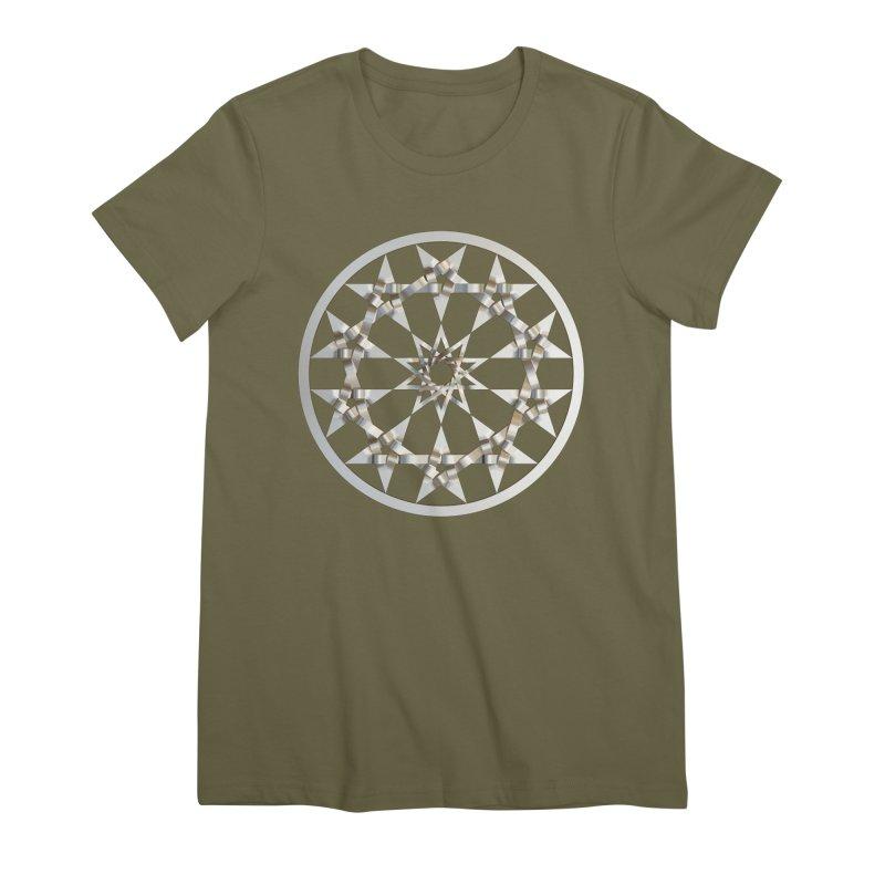 12 Woven 5 Pointed Stars Silver Women's Premium T-Shirt by diamondheart's Artist Shop