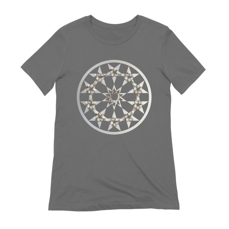 12 Woven 5 Pointed Stars Silver Women's Extra Soft T-Shirt by diamondheart's Artist Shop