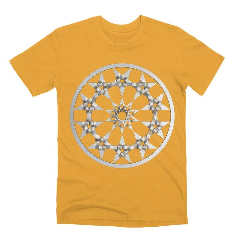 12 Woven 5 Pointed Stars Silver Men's Premium T-Shirt by diamondheart's Artist Shop