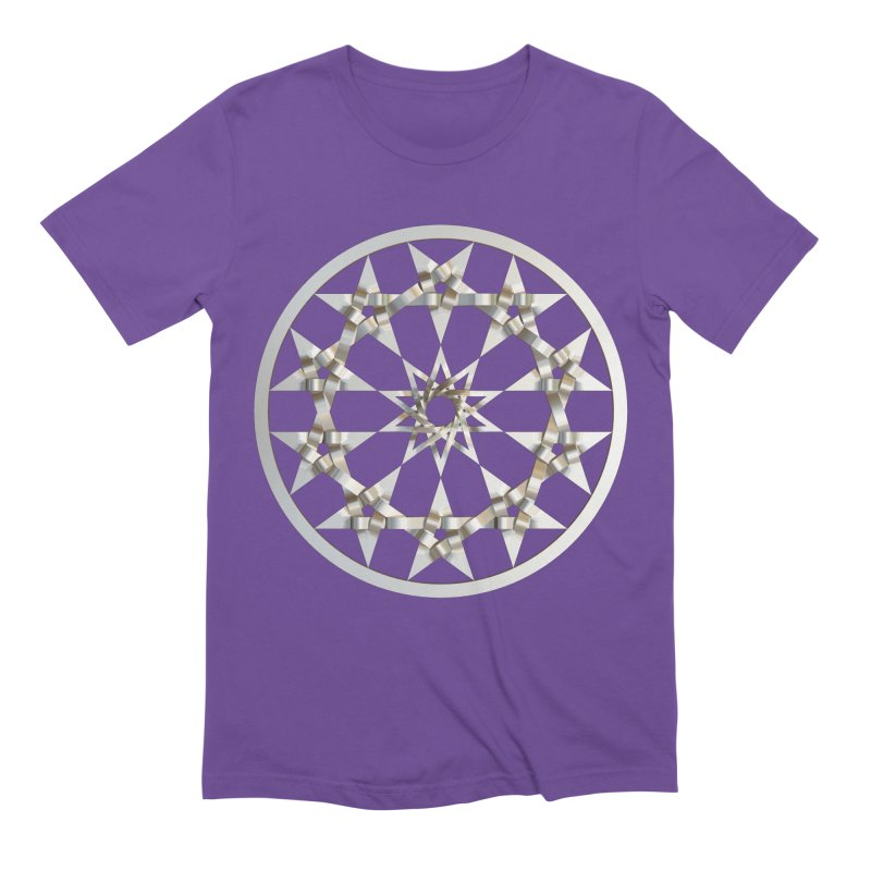 12 Woven 5 Pointed Stars Silver Men's Extra Soft T-Shirt by diamondheart's Artist Shop