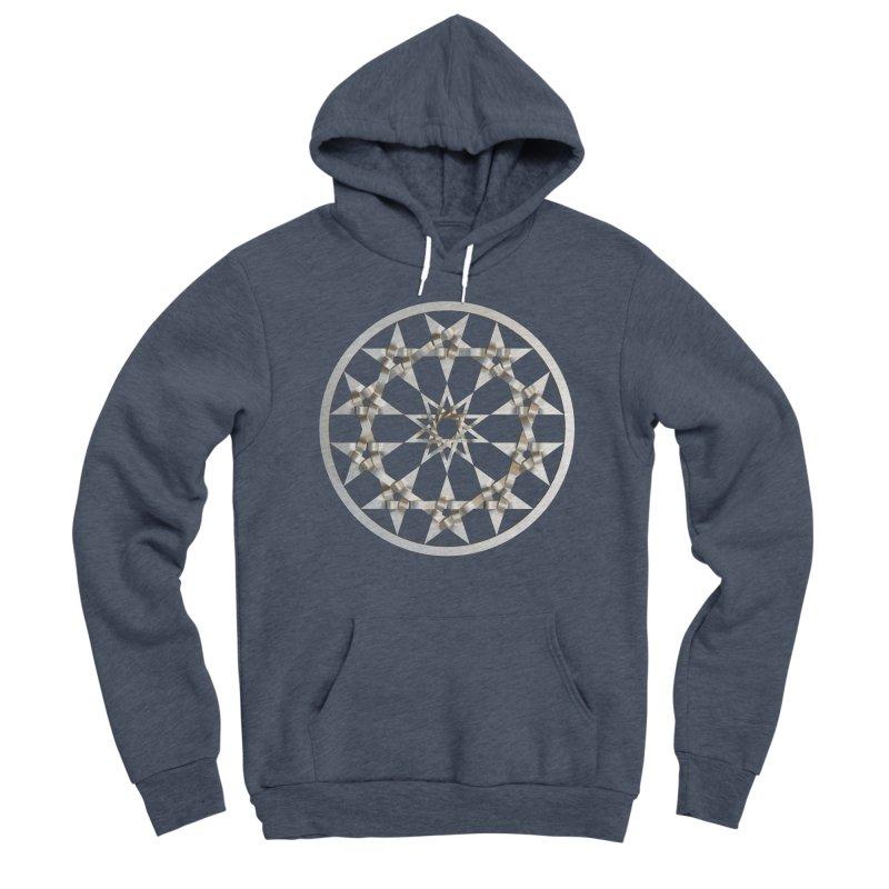 12 Woven 5 Pointed Stars Silver Men's Sponge Fleece Pullover Hoody by diamondheart's Artist Shop