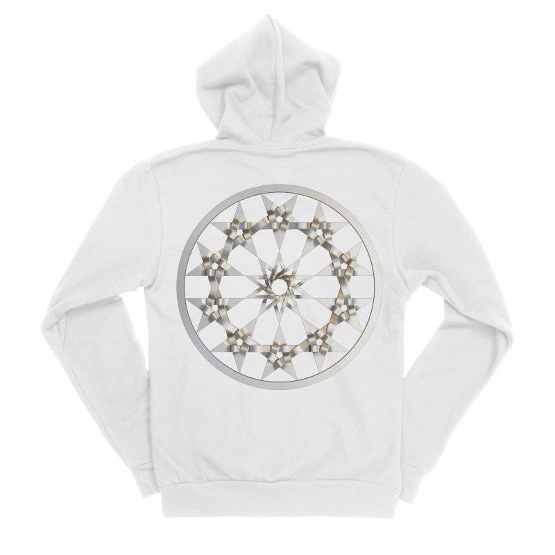 12 Woven 5 Pointed Stars Silver Men's Sponge Fleece Zip-Up Hoody by diamondheart's Artist Shop