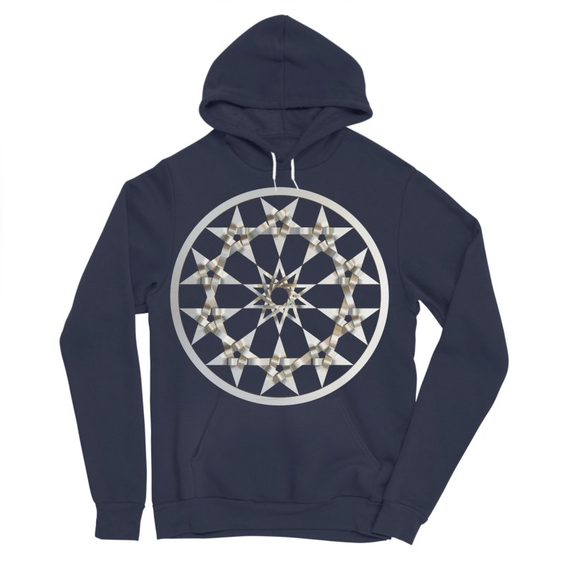 12 Woven 5 Pointed Stars Silver Men's Sponge Fleece Pullover Hoody by diamondheart's Artist Shop