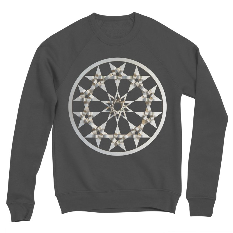 12 Woven 5 Pointed Stars Silver Men's Sponge Fleece Sweatshirt by diamondheart's Artist Shop