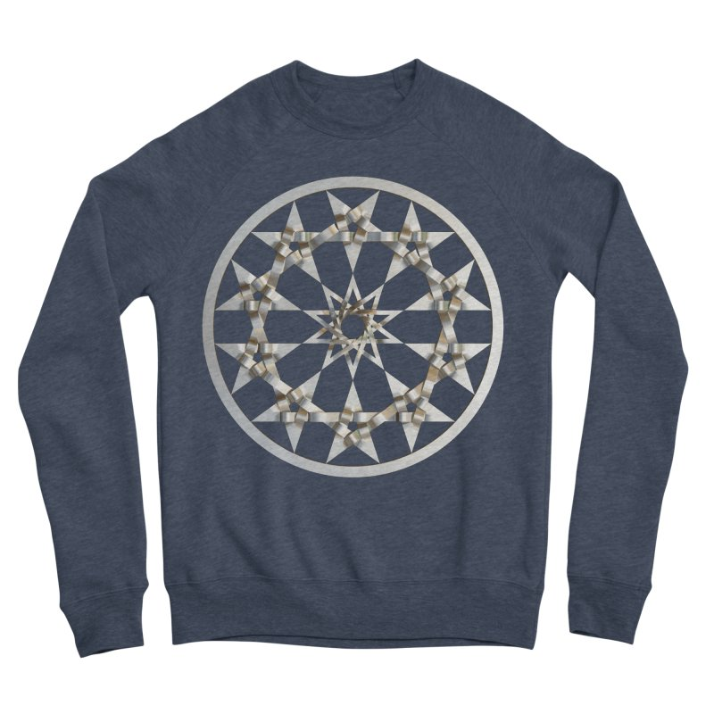 12 Woven 5 Pointed Stars Silver Women's Sponge Fleece Sweatshirt by diamondheart's Artist Shop