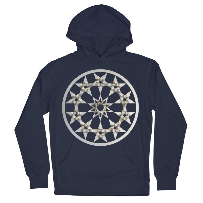 12 Woven 5 Pointed Stars Silver Men's Pullover Hoody by diamondheart's Artist Shop