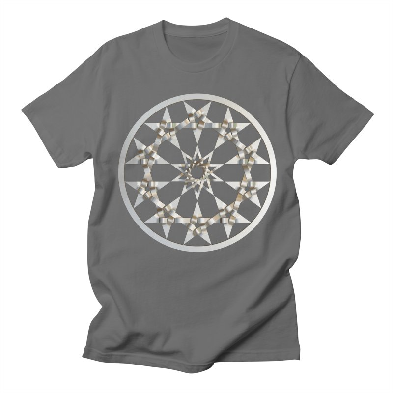 12 Woven 5 Pointed Stars Silver Men's T-Shirt by diamondheart's Artist Shop