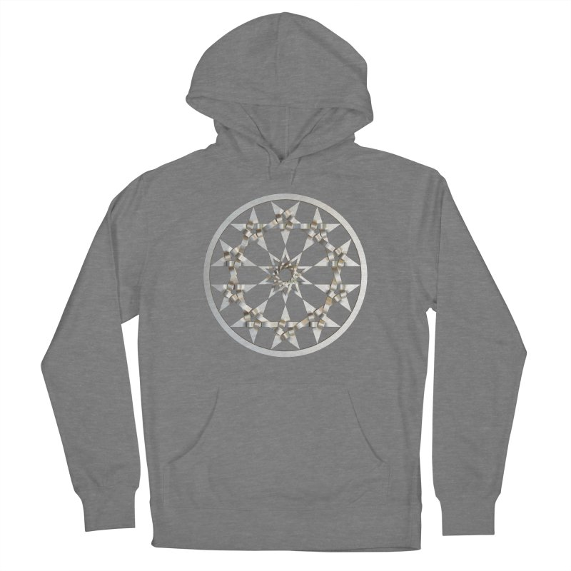 12 Woven 5 Pointed Stars Silver Women's Pullover Hoody by diamondheart's Artist Shop