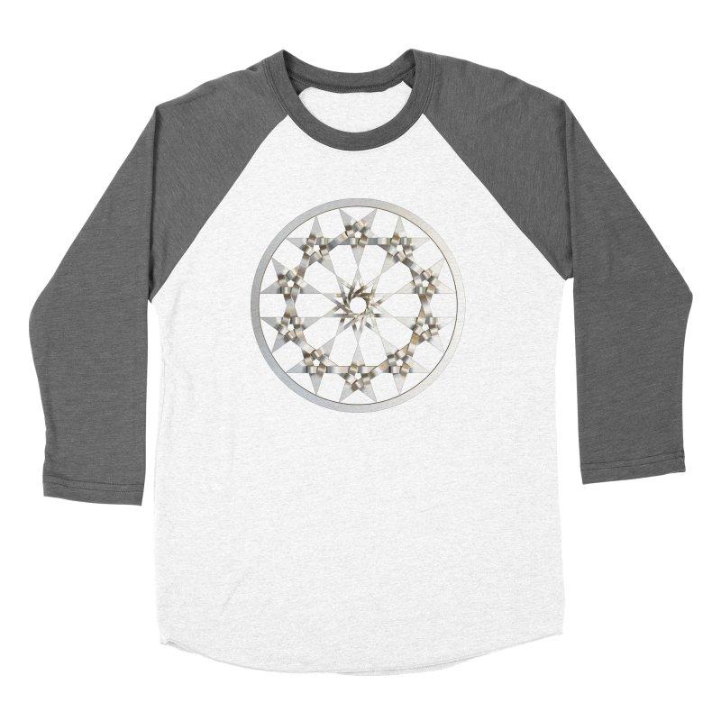 12 Woven 5 Pointed Stars Silver Women's Longsleeve T-Shirt by diamondheart's Artist Shop
