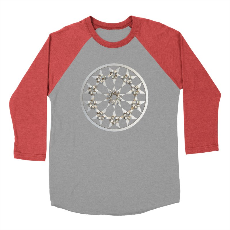 12 Woven 5 Pointed Stars Silver Women's Baseball Triblend Longsleeve T-Shirt by diamondheart's Artist Shop