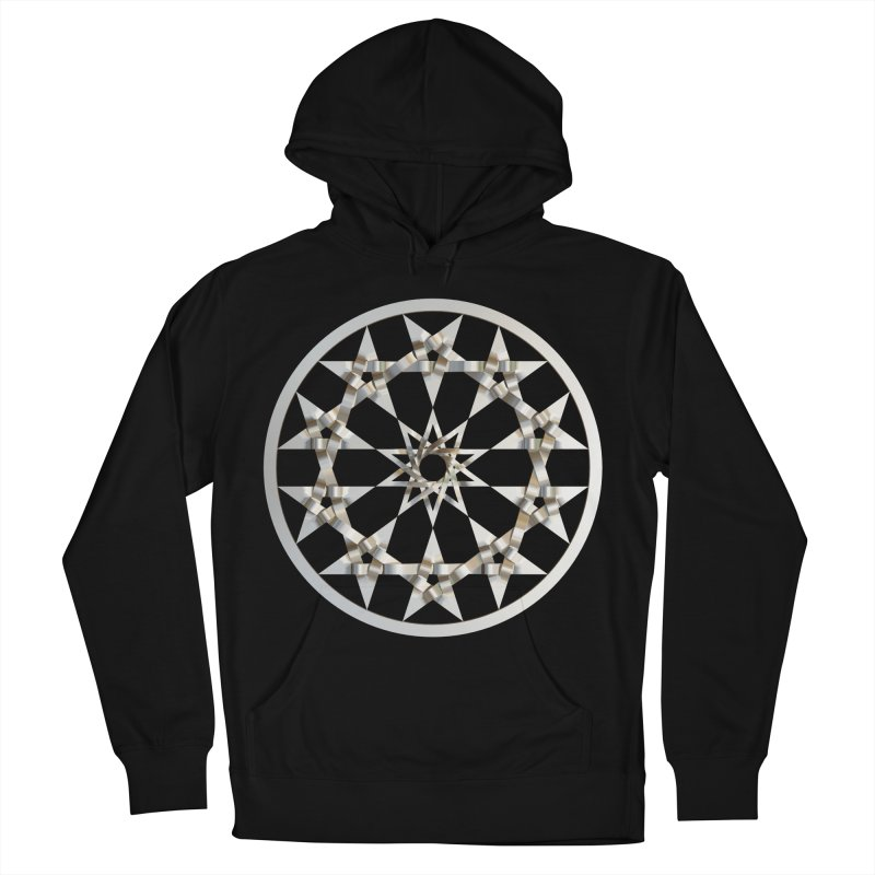12 Woven 5 Pointed Stars Silver Women's French Terry Pullover Hoody by diamondheart's Artist Shop