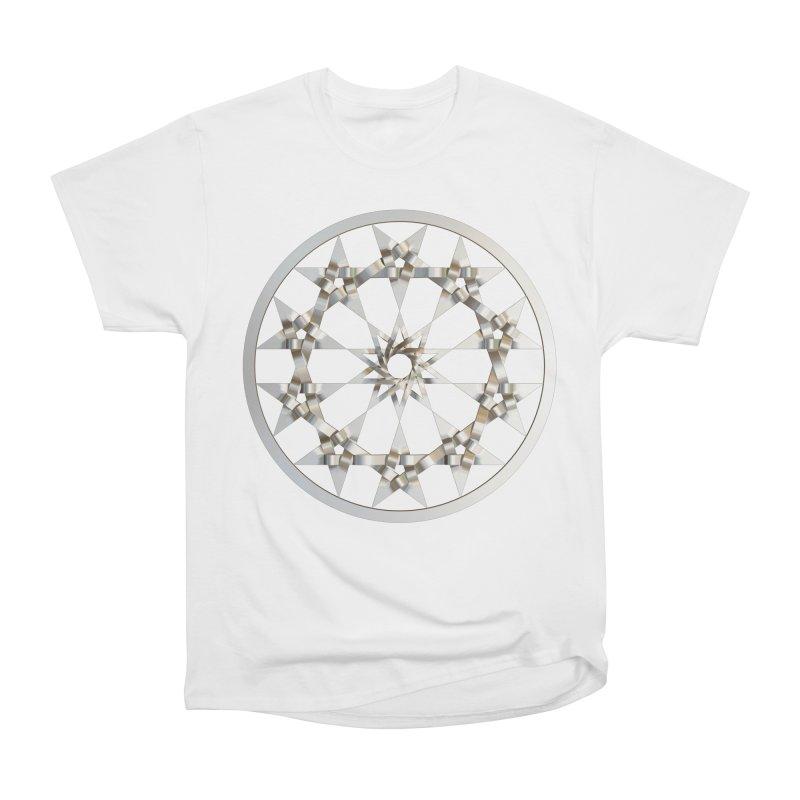 12 Woven 5 Pointed Stars Silver Women's Heavyweight Unisex T-Shirt by diamondheart's Artist Shop