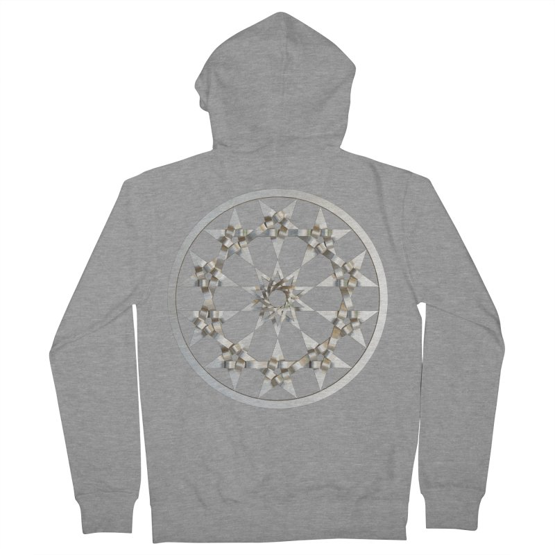 12 Woven 5 Pointed Stars Silver Men's French Terry Zip-Up Hoody by diamondheart's Artist Shop