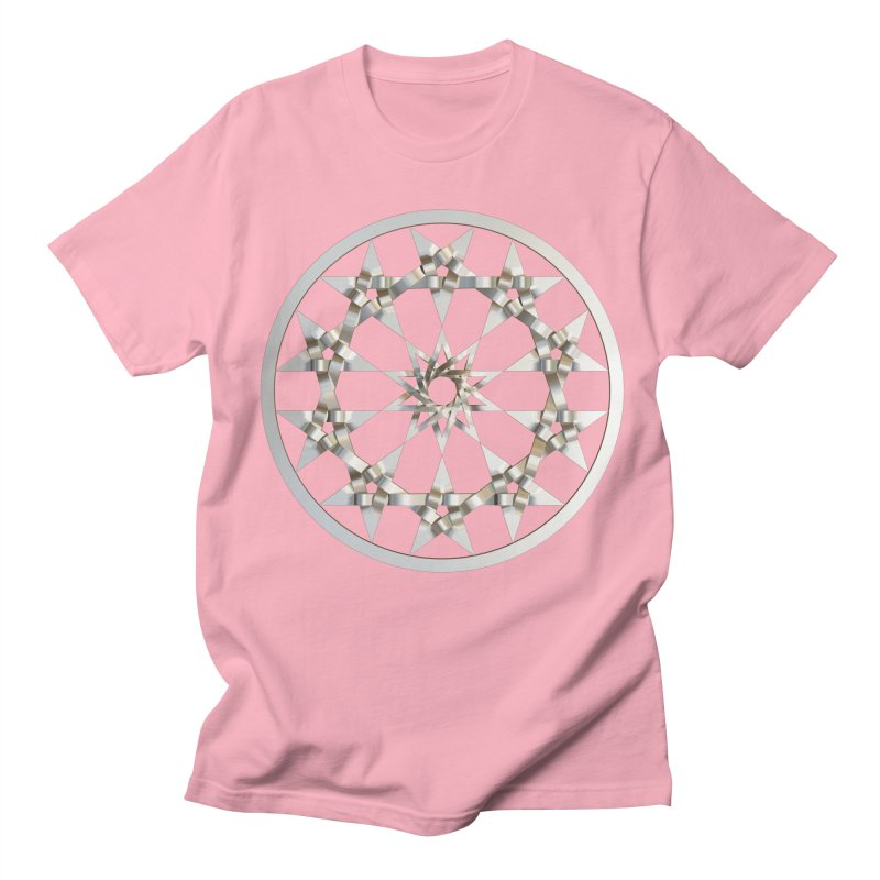 12 Woven 5 Pointed Stars Silver Women's Regular Unisex T-Shirt by diamondheart's Artist Shop