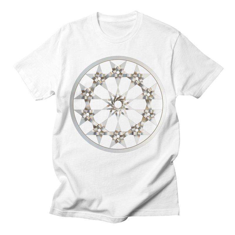 12 Woven 5 Pointed Stars Silver Women's Regular Unisex T-Shirt by diamondheart's Artist Shop