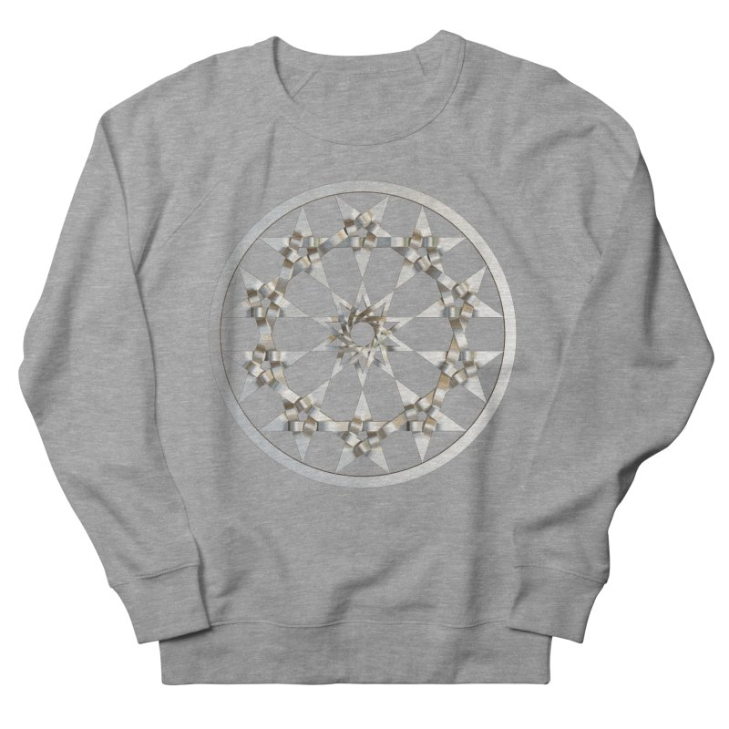 12 Woven 5 Pointed Stars Silver Women's French Terry Sweatshirt by diamondheart's Artist Shop