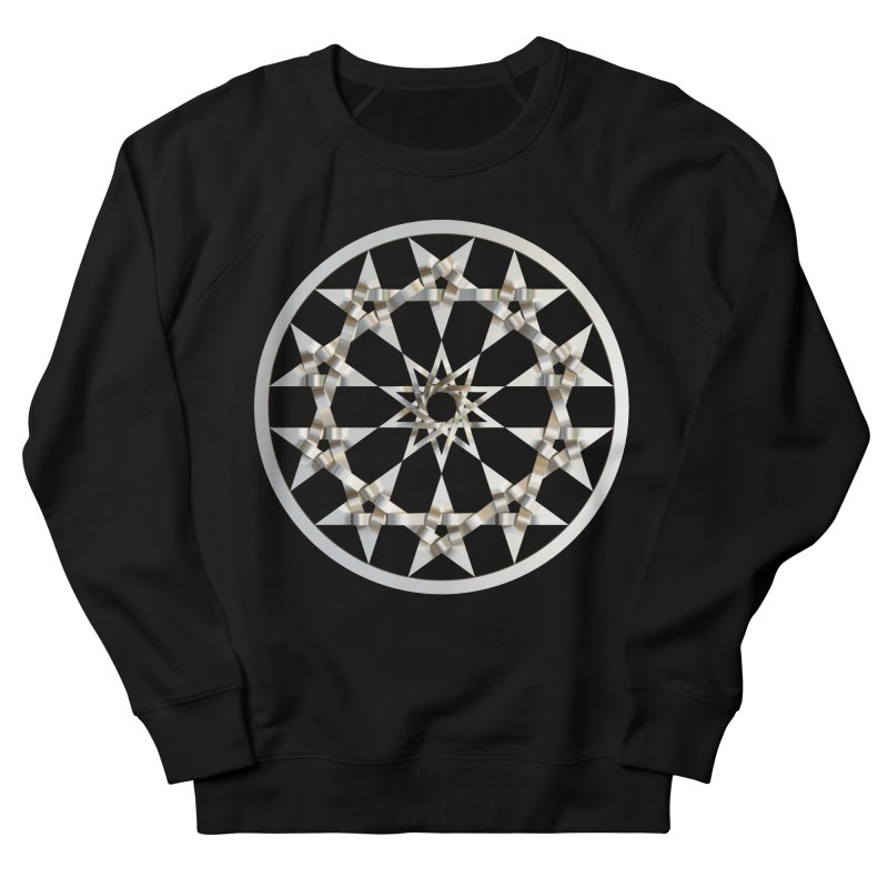 12 Woven 5 Pointed Stars Silver Men's French Terry Sweatshirt by diamondheart's Artist Shop