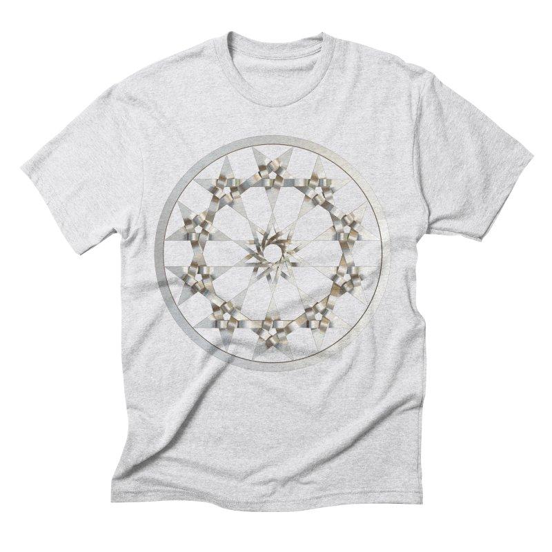 12 Woven 5 Pointed Stars Silver Men's Triblend T-Shirt by diamondheart's Artist Shop