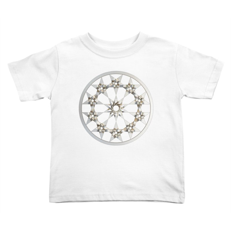 12 Woven 5 Pointed Stars Silver Kids Toddler T-Shirt by diamondheart's Artist Shop