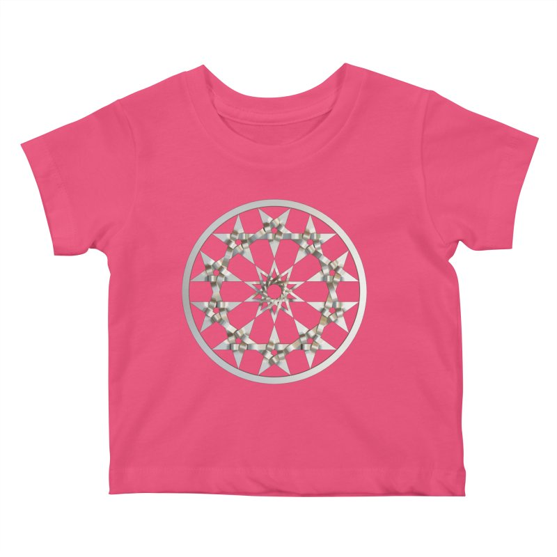 12 Woven 5 Pointed Stars Silver Kids Baby T-Shirt by diamondheart's Artist Shop