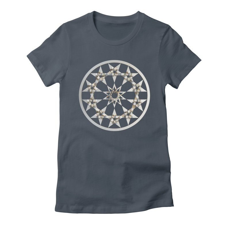 12 Woven 5 Pointed Stars Silver Women's T-Shirt by diamondheart's Artist Shop