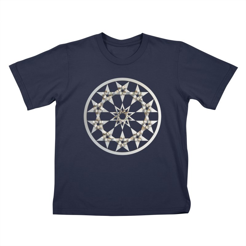 12 Woven 5 Pointed Stars Silver Kids T-Shirt by diamondheart's Artist Shop
