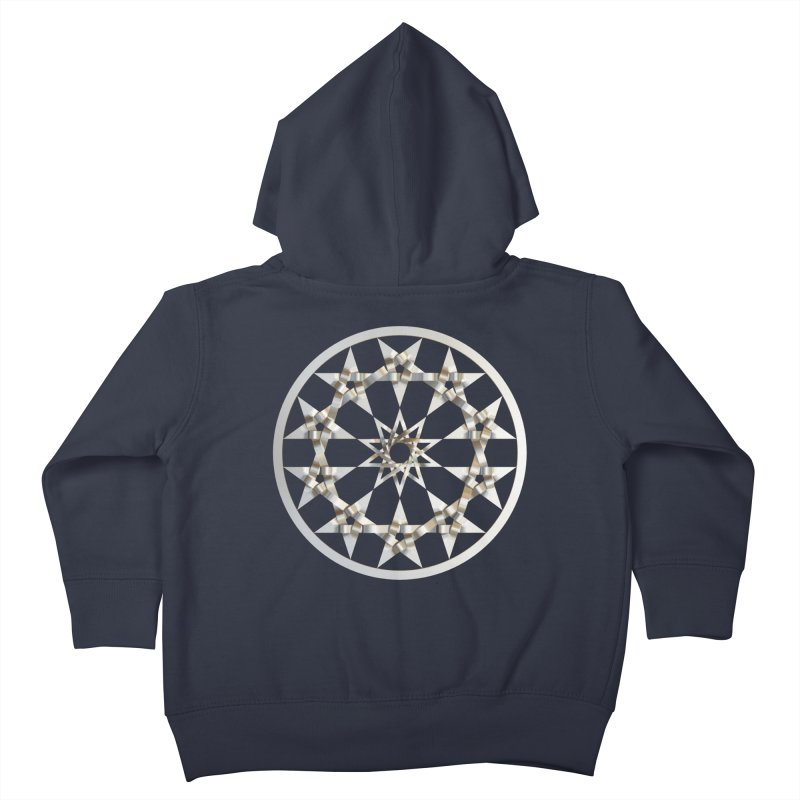 12 Woven 5 Pointed Stars Silver Kids Toddler Zip-Up Hoody by diamondheart's Artist Shop