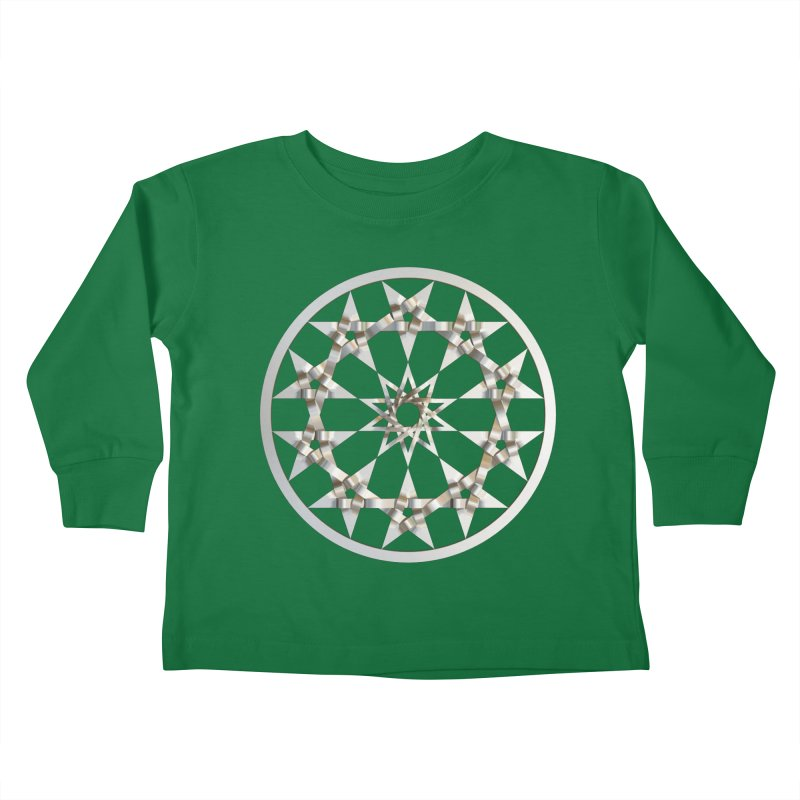 12 Woven 5 Pointed Stars Silver Kids Toddler Longsleeve T-Shirt by diamondheart's Artist Shop