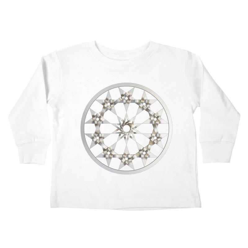 12 Woven 5 Pointed Stars Silver Kids Toddler Longsleeve T-Shirt by diamondheart's Artist Shop
